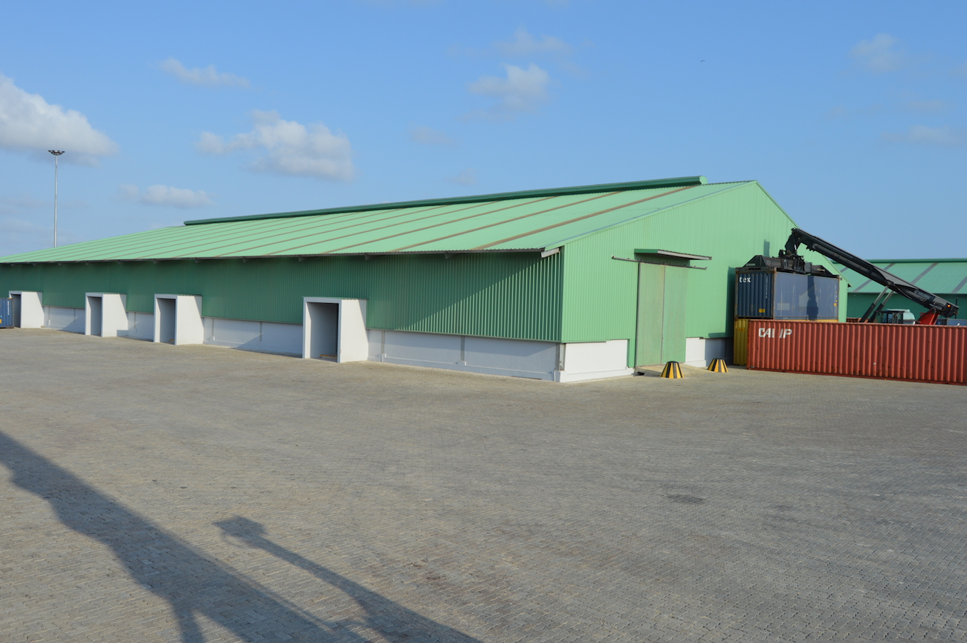 Cross-loading facility, 3278sq.meters multipurpose facility for offloading/stuffing containers below roof not depending from weather conditions